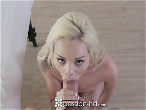 PASSION-HD Elsa Jean kneaded and nailed with jizz shot