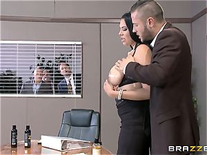 ginormous boobed office doll Missy Martinez gets it throughout the date table