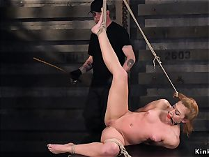 shaft on a stick in tied up sandy-haired mega-bitch