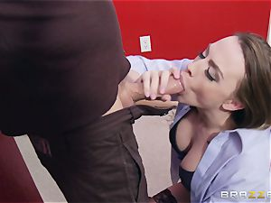 Married nymph Chanel Preston gets titfucked and her honeypot fuckin' by thief