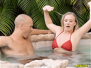 Bailey Brooke outdoor pool manmeat dickblower