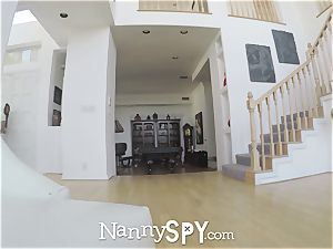 NannySpy Thieving hired baby sitter Adria Rae fucked