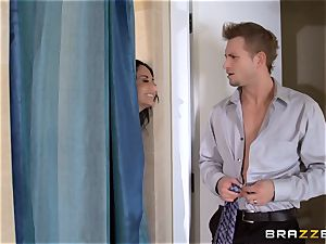 phat breasted Ava Addams cheats in the douche