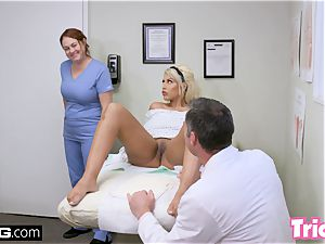 Trickery milf Bridgette B has orgy with thick dick doctor
