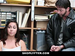 Shoplyfter molten nubile boned For Stealing Infront Of daddy