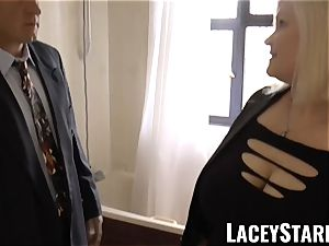 LACEYSTARR - Mature English babe romped and facialized