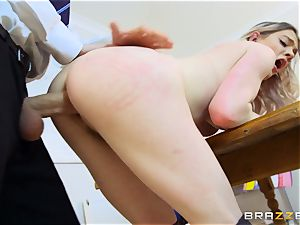 sumptuous college girl Carly Rae gets penetrated by a enormous dicked tutor