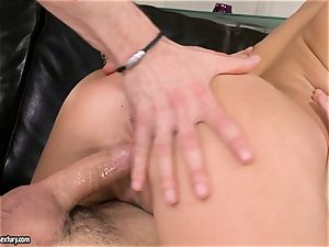 Aletta Ocean spunk on face after a tastey three way