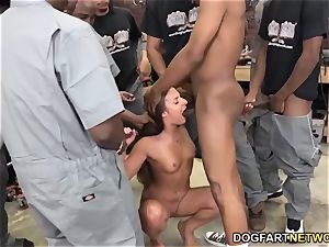 Amirah Adara gargles An entire crew Of black guys