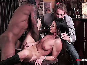 super-fucking-hot wifey India Summer ejaculating on a black chisel