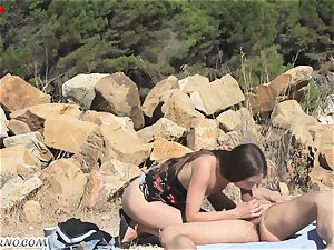 young nudists having orgy outdoor