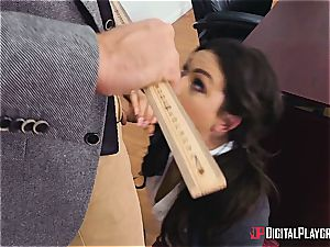 Kimber Lee gets her first-ever buttfuck lesson at the academy