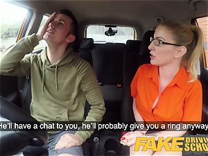 faux Driving school check-up failure leads to super-fucking-hot intercourse