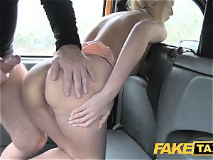 fake cab cool mum with fat tits inhales hard-on