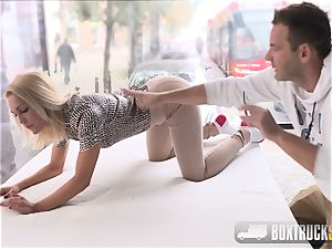 amazing Cecilia Scott porno casting in Public