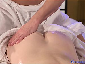 cute Elena gets a sultry creampie from a hot man