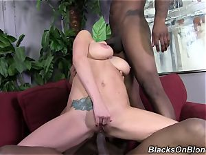 2 black cocks battering white vulva