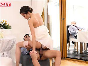 LETSDOEIT - StepMom nails StepSon With spouse Sleeping