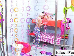 huge-titted Natasha uber-cute plumbs marvelous Vanessa cell