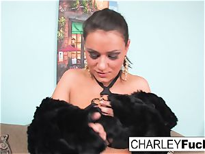 Charley displays off her luxurious figure