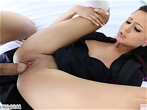 brother pummels his younger sis Ariana Marie after lessons