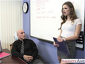 slender Jillian Janson nasty for her teacher's trunk
