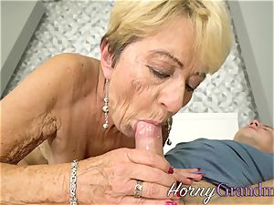 huge-boobed pensioner jizm drizzle