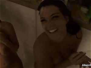 Alison Tyler and Kelly Divine Showering off the paint