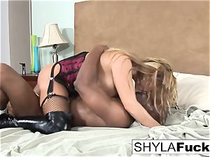 Prince supplies a dark-hued shaft For Shyla