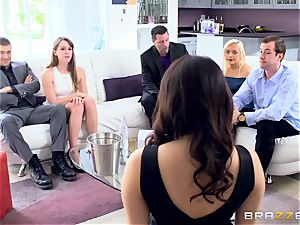 naughty brown-haired Valentina Nappi dual boned nads deep