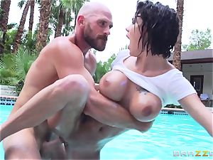 big-chested Peta Jensen - messy hookup by the pool