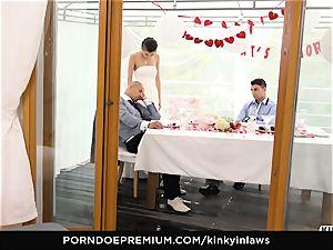 mischievous INLAWS - euro bride pummeled deep by stepson