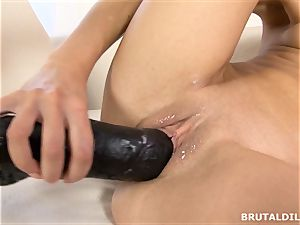 blond nubile Victoria Puppy pussy gaped by meaty faux-cock