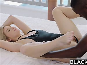BLACKED.com ash-blonde Gets very first big black cock from Brothers friend