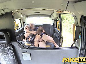fake taxi Deep gullet gasping milf gets backseat facial