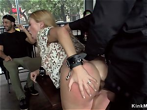 immense titties platinum-blonde ass-fuck smashed in bar