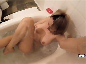 CrushGirls - Brett Rossi wanks in bouncy tub