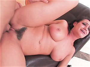 black-haired beauty Charley gets a rough tearing up