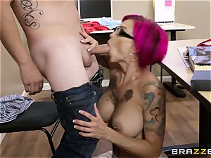 Oh my God! big-boobed teacher Anna Bell Peaks seduces me during lesson