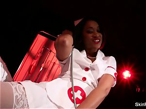 supah red-hot nurse flesh Diamond gives a sexy taunt