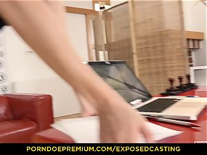 unsheathed casting - curvaceous stunner intercourse mastery test in audition
