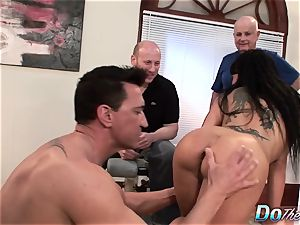 stellar wifey Takes It Up the booty While husband Looks On