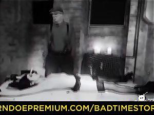 BADTIME STORIES - brunette gimp brutal dominance bondage & discipline