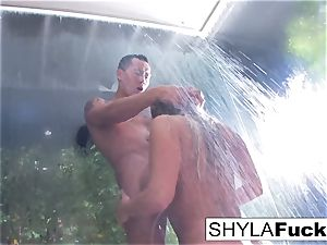 Shyla's anal porking in the bathroom