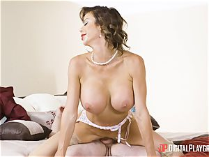 Alexis Fawx taking it real hard