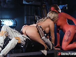 Monster lollipop longing space beauties Athena Palomino and Carly Rae