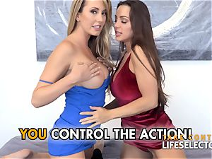 Abigail Mac and Brett Rossi point of view 3some