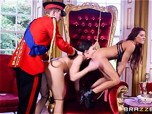 Right royal 3 way with Aletta Ocean and Madison Ivy