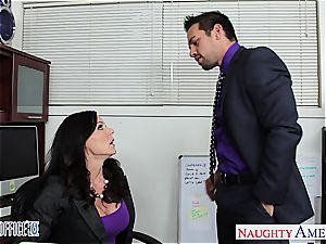 hottie dark haired Kendra lust poking in the office