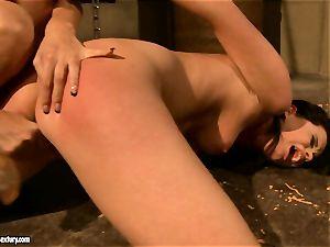 Mandy Bright scorching mega-bitch dildo fucking a lusty babe